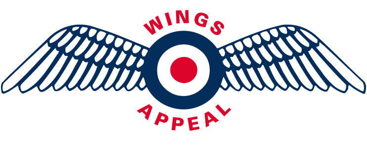"Wings Appeal Logo (RAF Roundel with wings, and the words ""Wings Appeal"")"