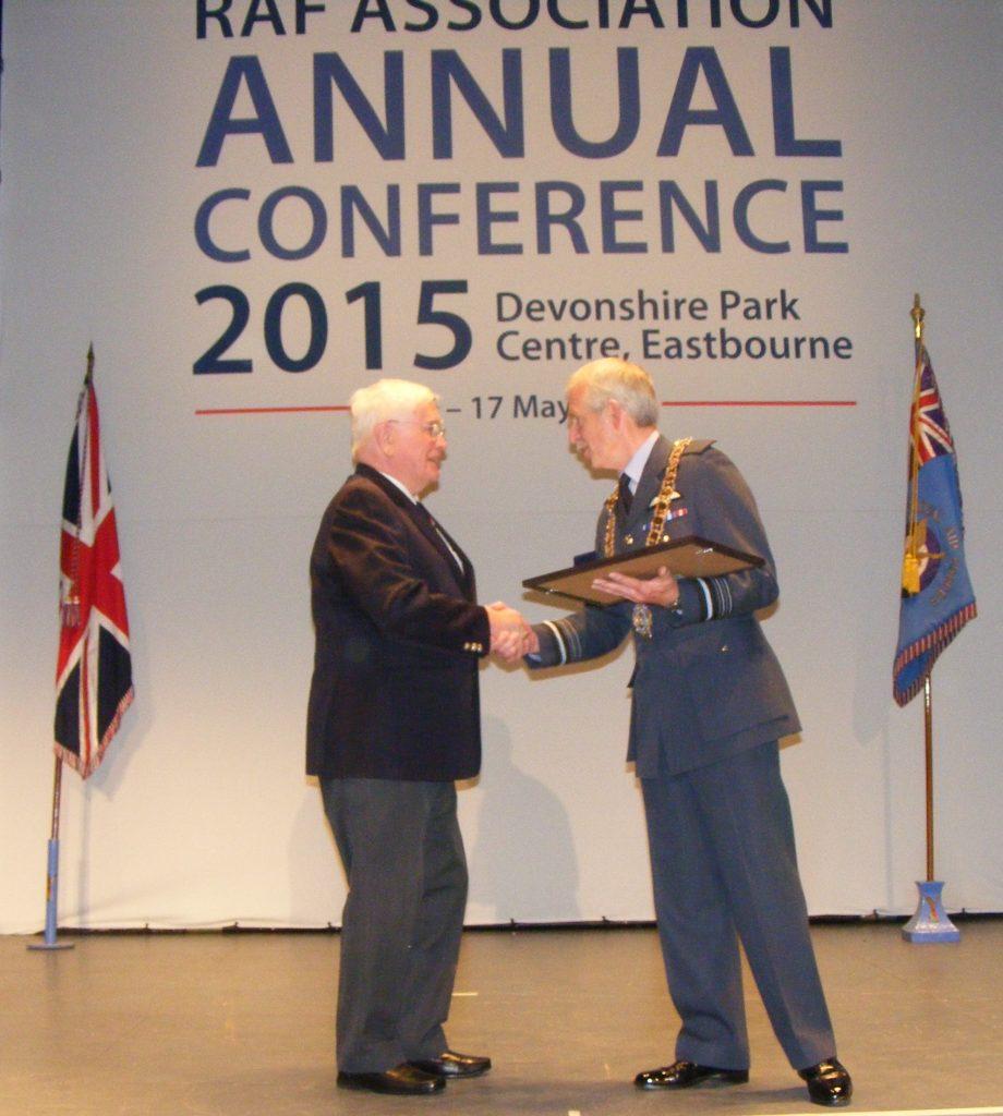 Hon Welfare Officer Malcolm Bennett receives National Presidential Certificate